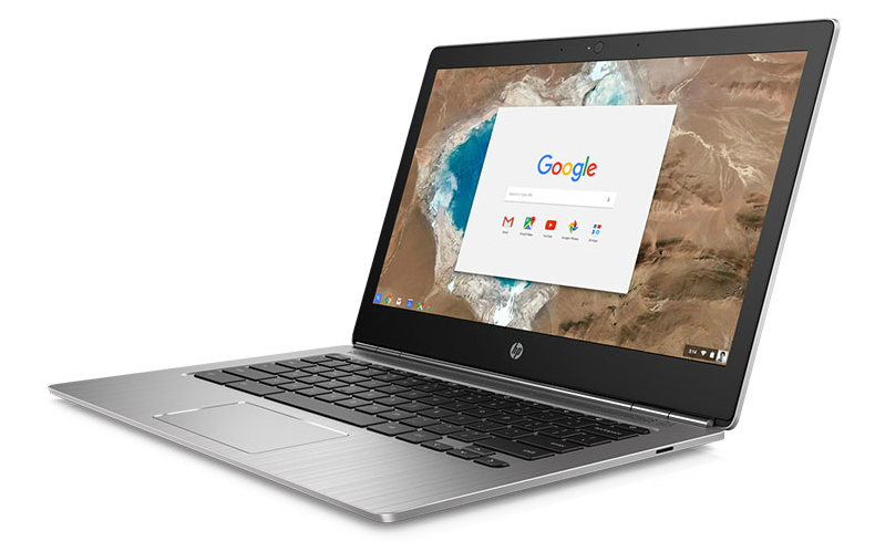 HP Chromebook 13 open