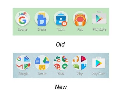 Second Android N Developer Preview - Icon Changes