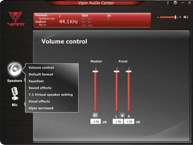 Viper-Audio-Center-Speaker-Options