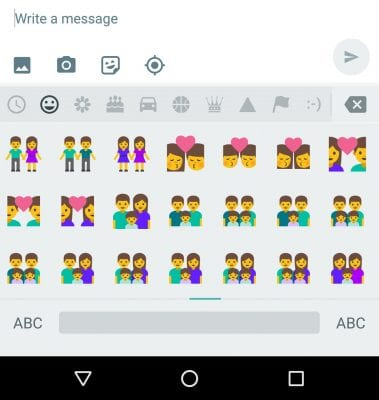 Second Android N Developer Preview - Emojis Pg 2