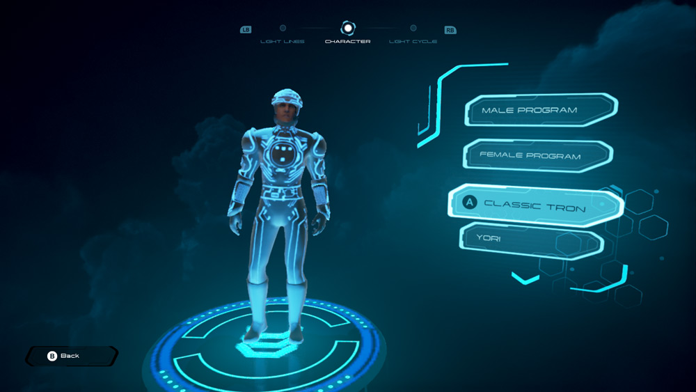 TRON-RUNr-Character-Select