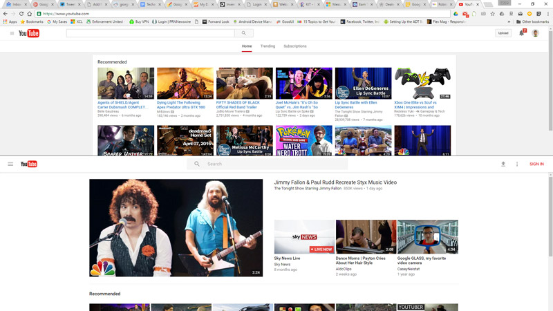 YouTube-Material-Design-Search-Home-Page