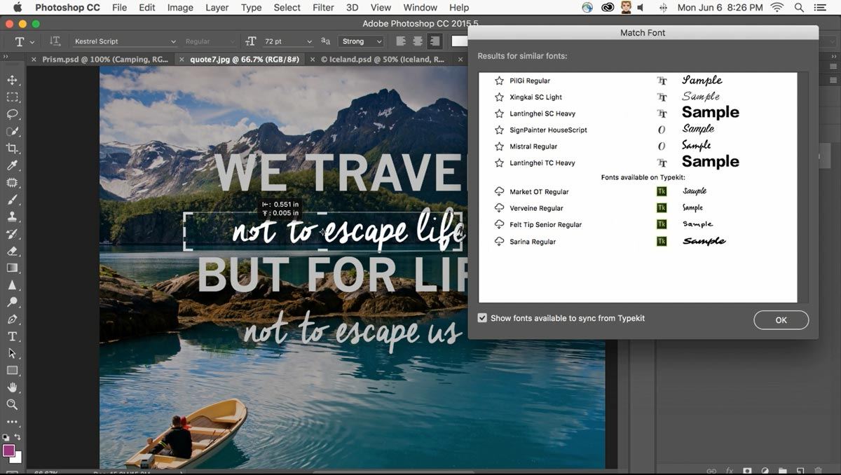Photoshop-Match-Font