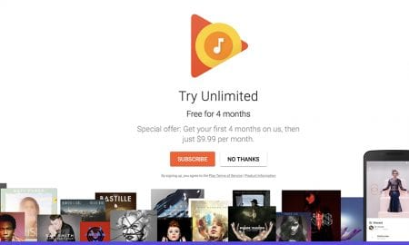 Play Music offers four month trial