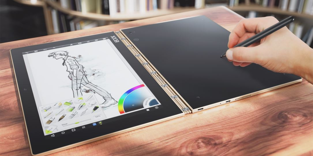 Lenovo Yoga Book replaces laptop keyboard with multi-function Create Pad