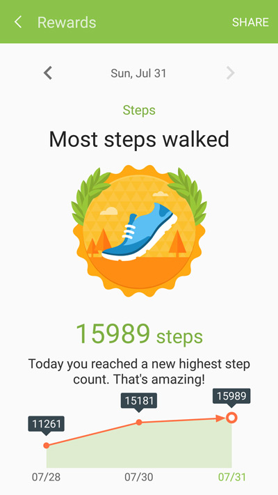 Samsung S Health Screenshot 20160822 143709