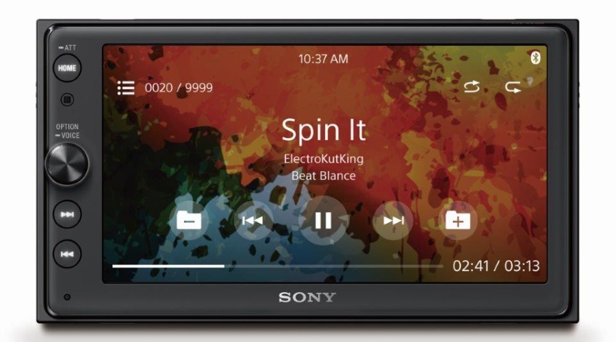 Sony XAV-AX100 Front Sony Music File Playback