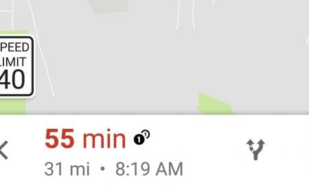 google-maps-app-speed-limit