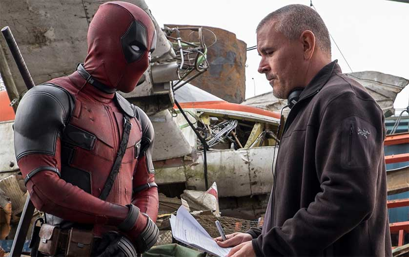 Rayn Reynolds and Tim Miller on the set of Deadpool