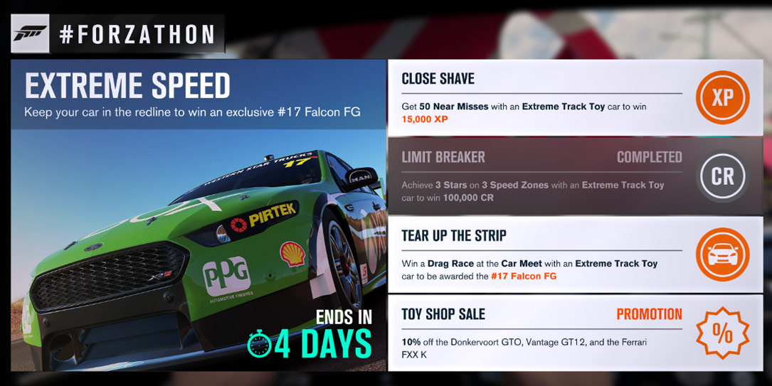 Forzathon October 17 21 Quot Extreme Speed Quot With Extreme