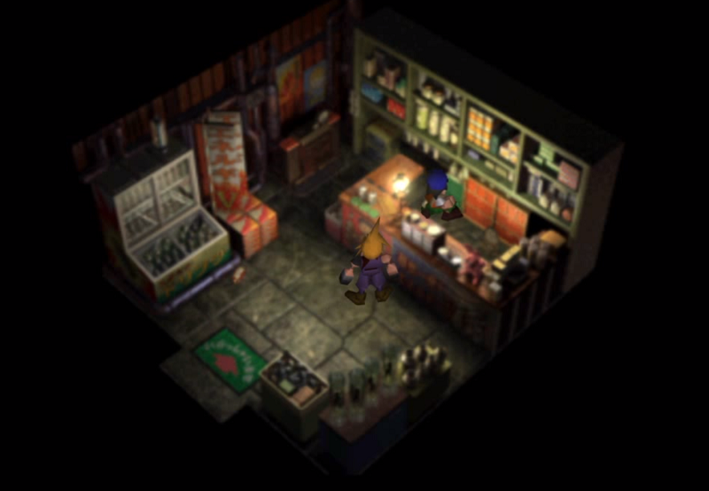 This is the original art from the first release of Final Fantasy 7.