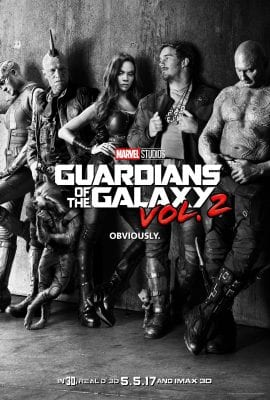 The official teaser poster for Guardians of the Galaxy 2.