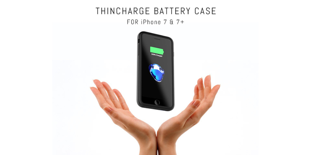 release date: e0dce 37918 ThinCharge battery case for iPhone 7/7 Plus promises double battery life