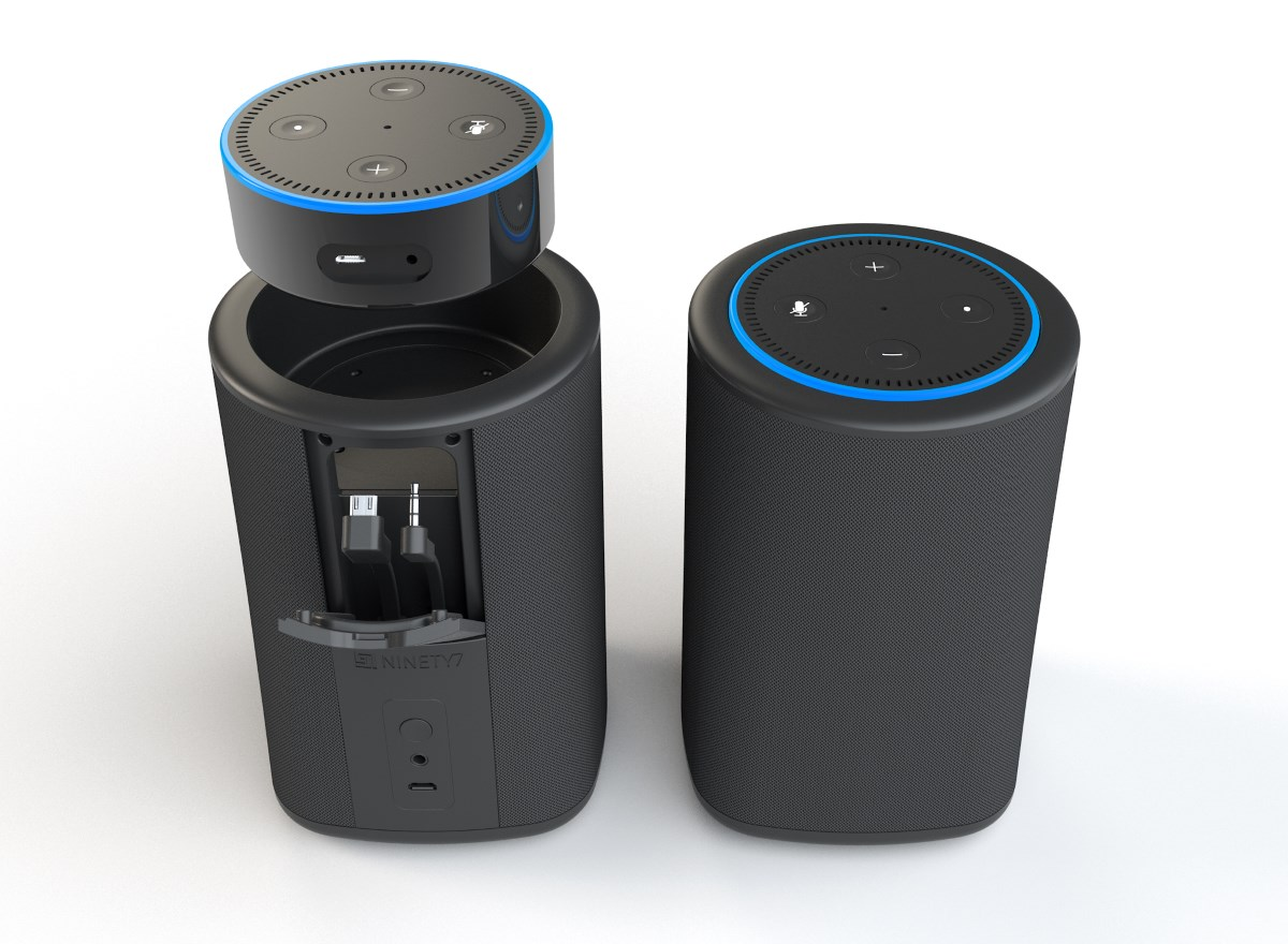 vaux transforms your amazon echo dot into a wireless. Black Bedroom Furniture Sets. Home Design Ideas