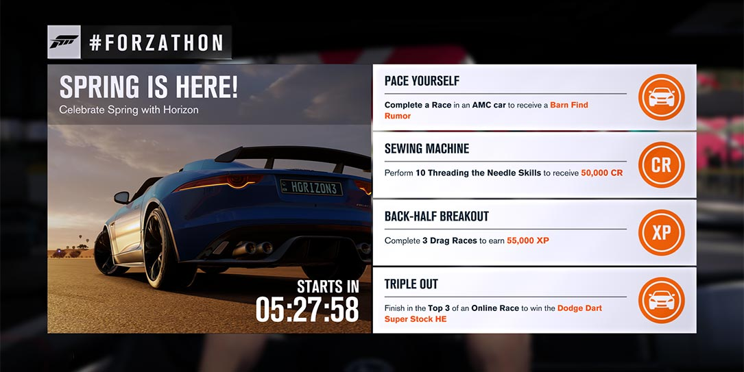 Forzathon April 7 9 Spring Is Here With A New Barn Find Rumor