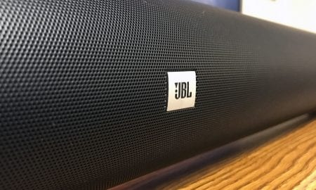 The JBL Cinema sb450 sound bar.