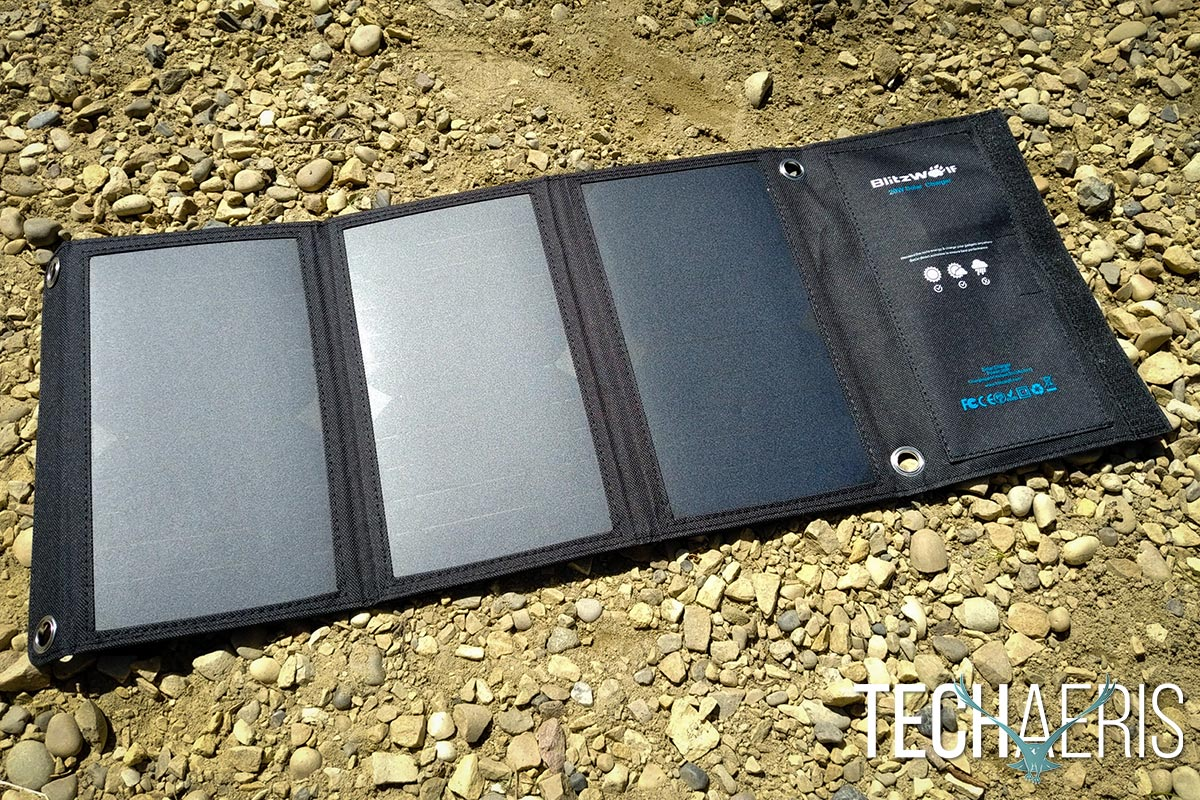 Blitzwolf 20w Solar Charger Review Powered Off Grid Device 04
