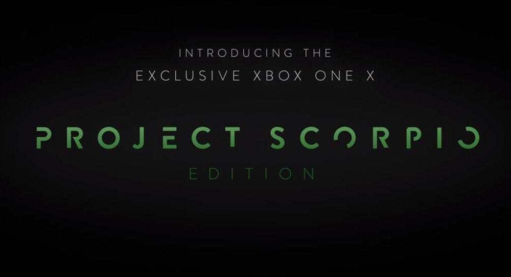 Pre Order The Limited Xbox One X Project Scorpio Edition Now