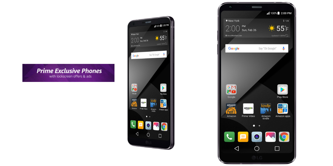 LG brings four unlocked phones to Amazon Prime Exclusive program