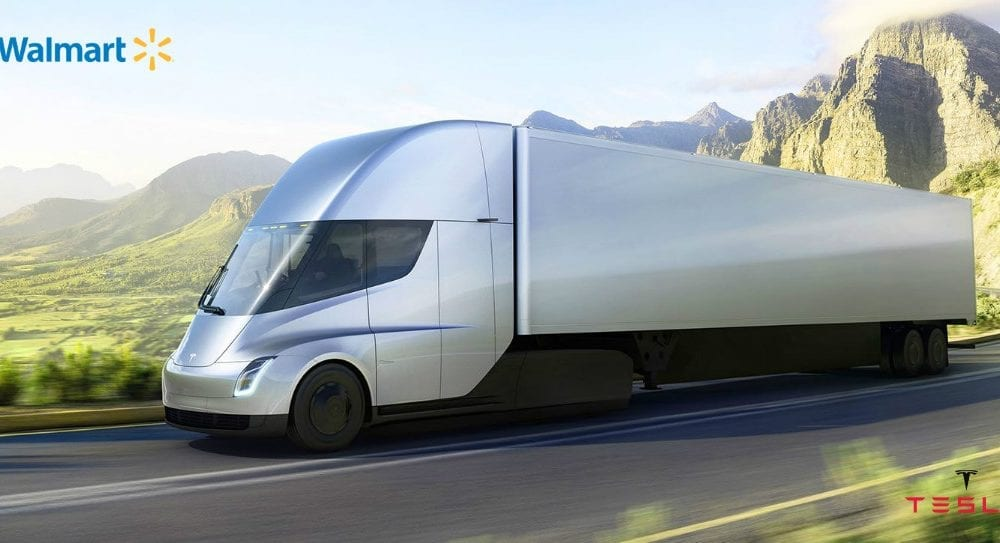 Tesla electric tractor trailer