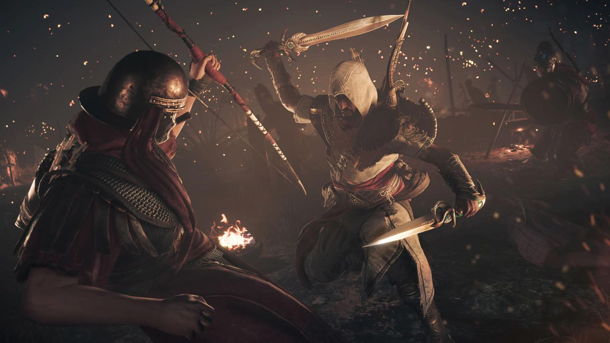 """The Hidden Ones"" takes place four years after the main storyline in Assassin's Creed Origins and focuses on further clashes and confrontation with the Romans."
