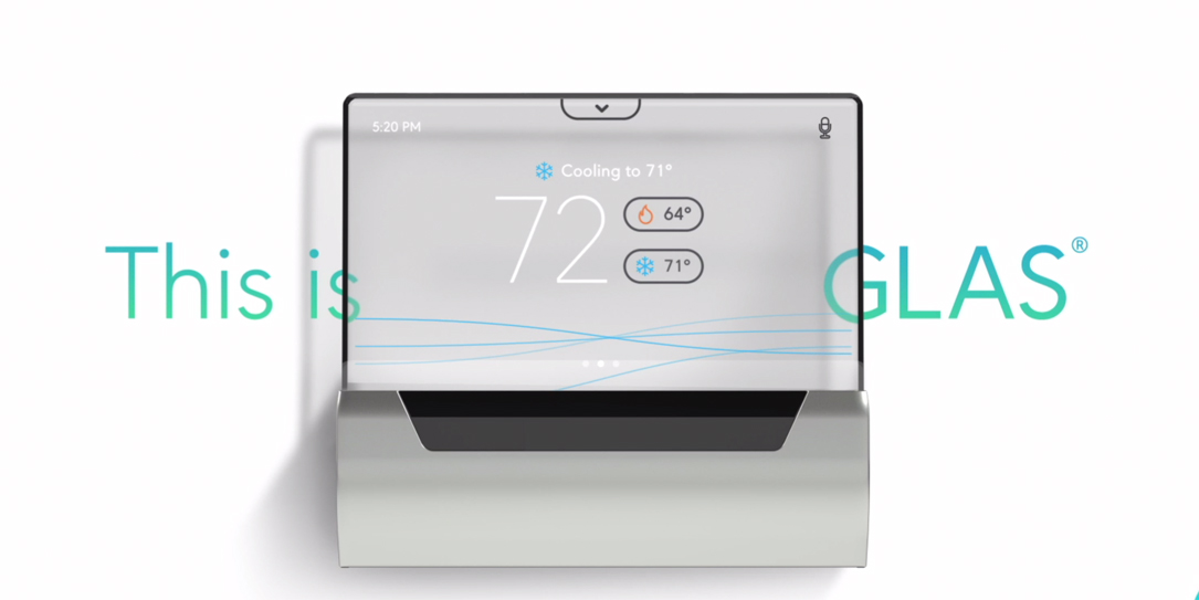 Johnson Controls Crams Cortana Into GLAS OLED Smart Thermostat