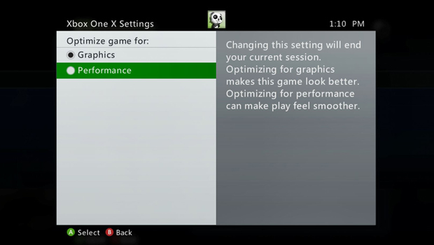 Xbox-360-Xbox-One-X-settings