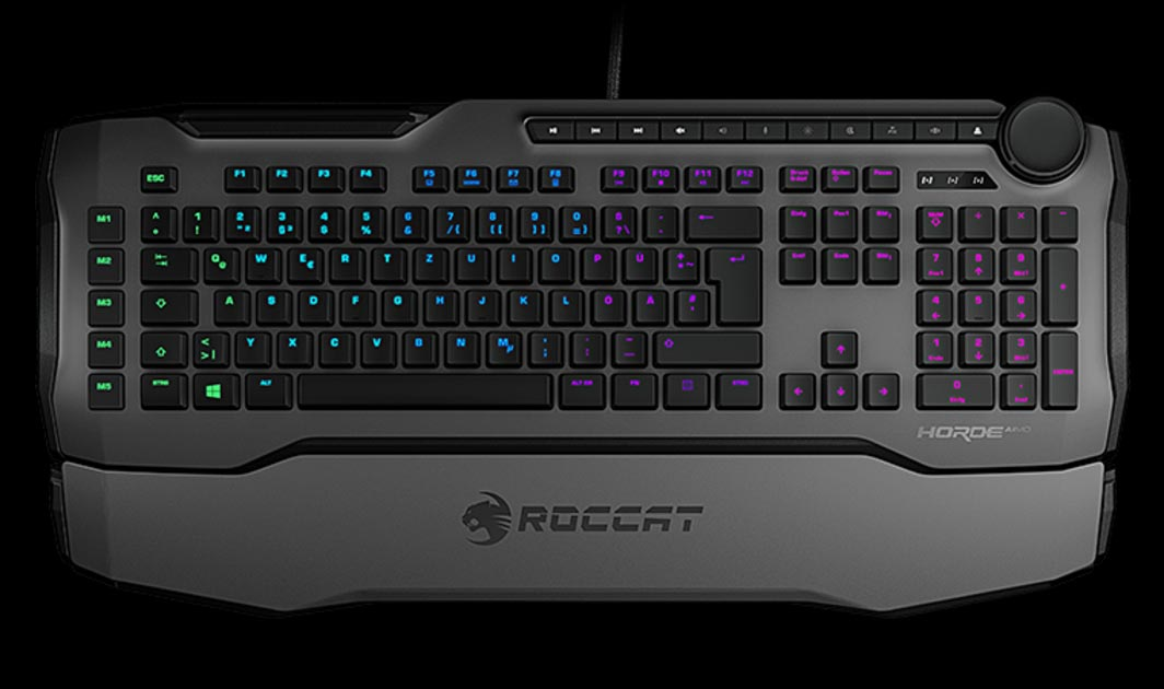 ROCCAT-Horde-AIMO-gaming-keyboard-top-view