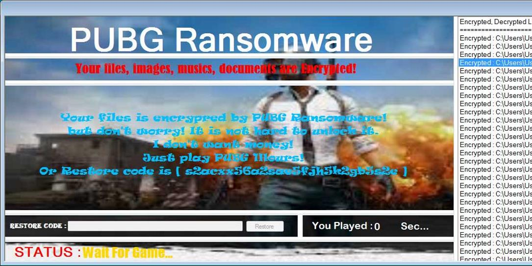 This new ransomware seems to really want you to play PUBG