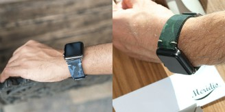 Meridio suede Apple Watch watchbands