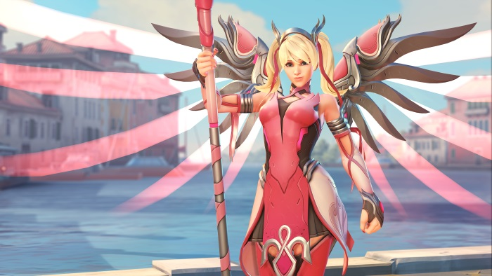 Overwatch Pink Mercy skin supports breast cancer research