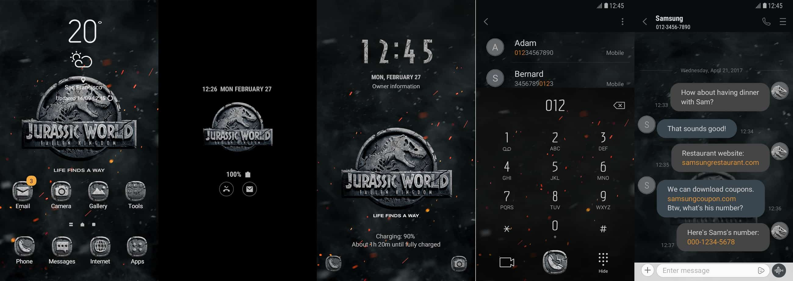 Samsung launches three new Jurassic World themes for Galaxy