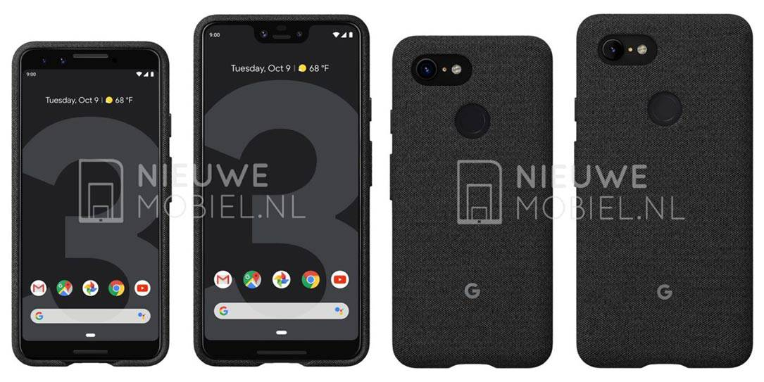 Google Pixel 3 and Pixel 3 XL appear in more leaked images