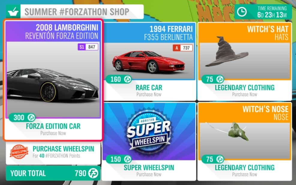 Summer #Forzathon Shop