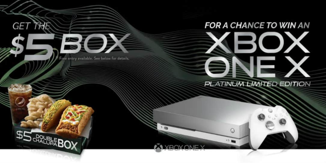 taco bell xbox one x giveaway you could win a limited edition xbox one x from taco bell 3261