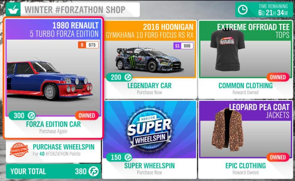 Foraz-Horizon-4-Forzathon-December-13-Forzathon-Shop