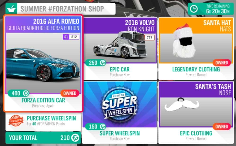 Forza Horizon 4 #Forzathon December 20-27th Summer #Forzathon Shop