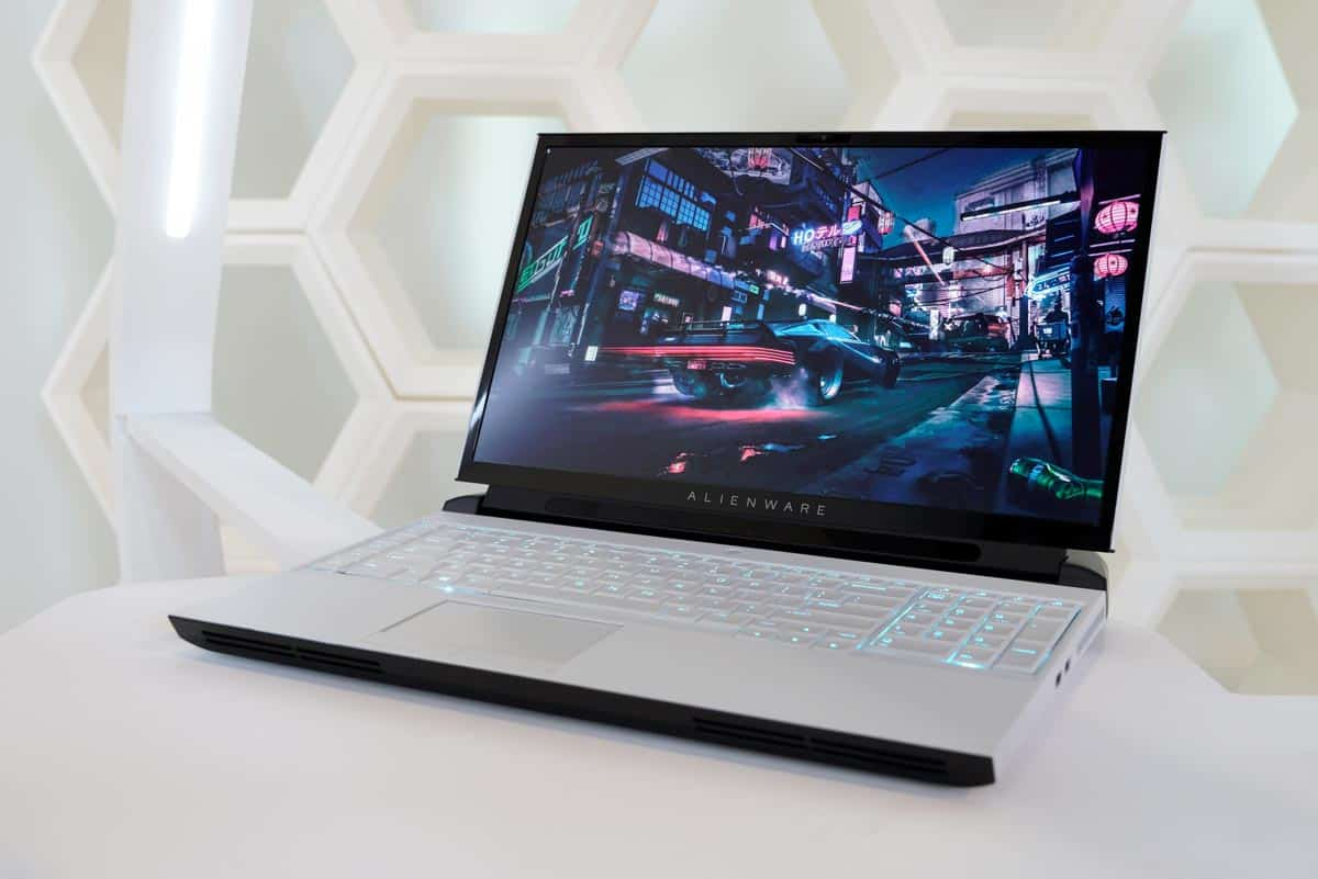 The Alienware Area-51m gaming laptop.