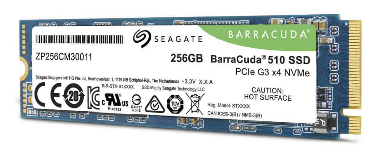 The BarraCuda 510 M.2 SSD drive.