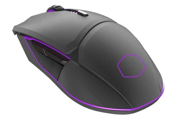 The Cooler Master MM831 wireless gaming mouse.