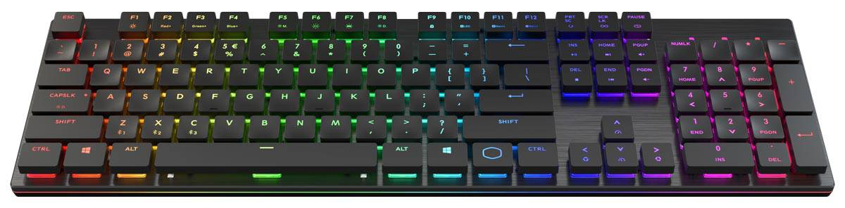 The Cooler Master SK651 full-layout wireless gaming keyboard.