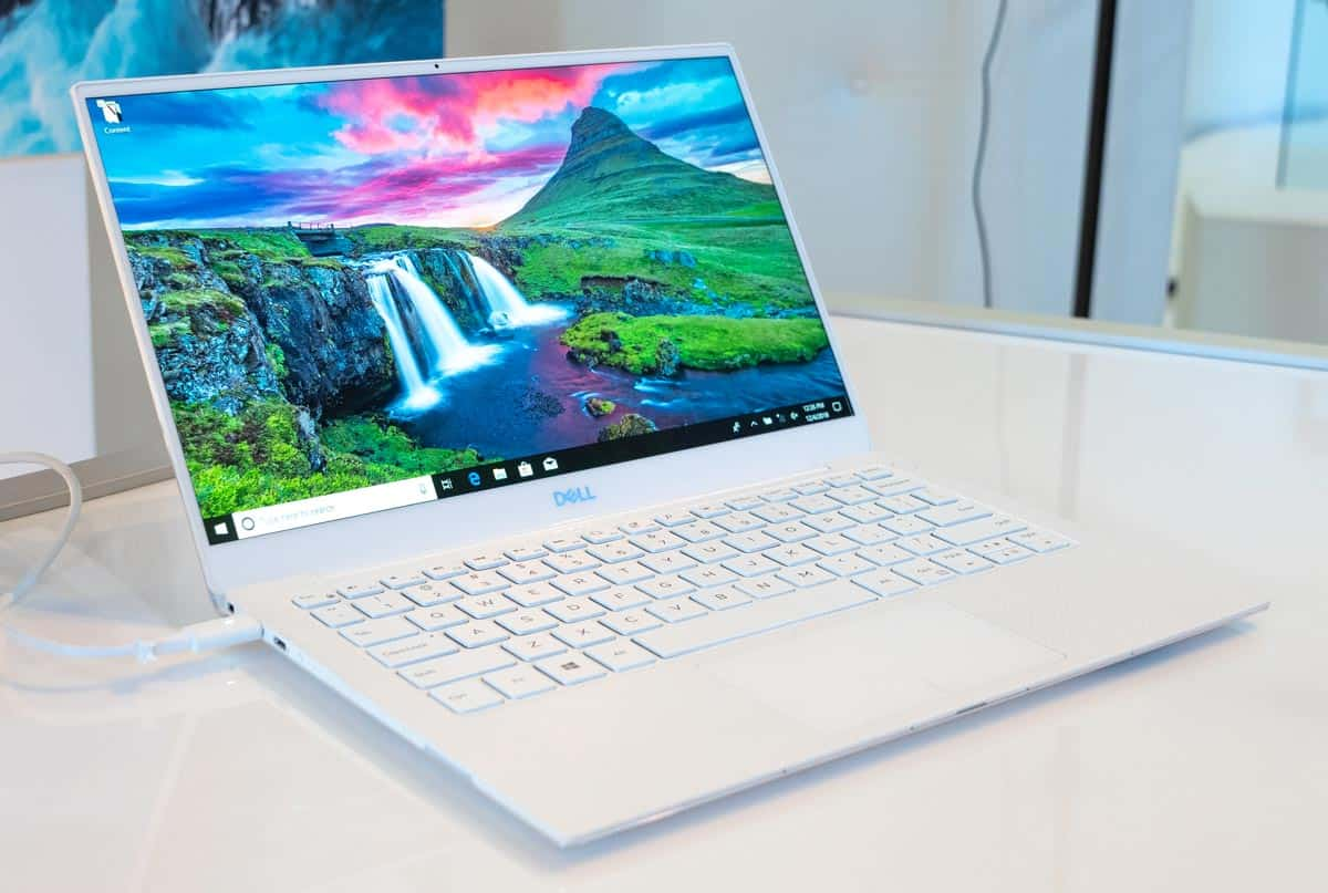 The Dell XPS 13 in Frost/White.