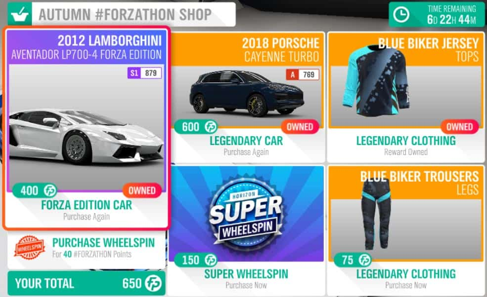 Forza Horizon 4 January 24 #Forzathon Shop