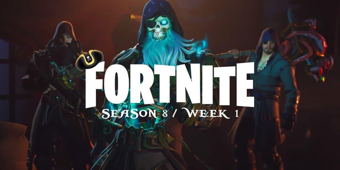 Fortnite Season 8 Week 1 challenges: Visit Pirate Camps ...