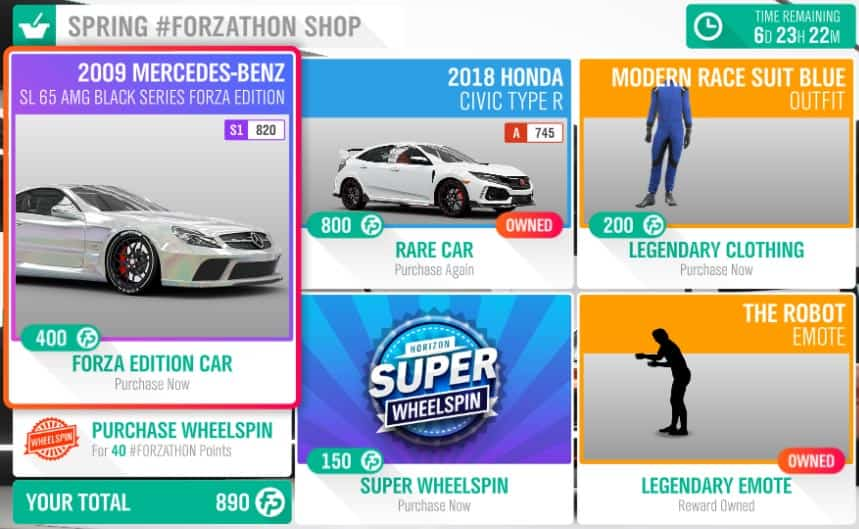 Forza Horizon 4 February 7th Spring #Forzathon Shop