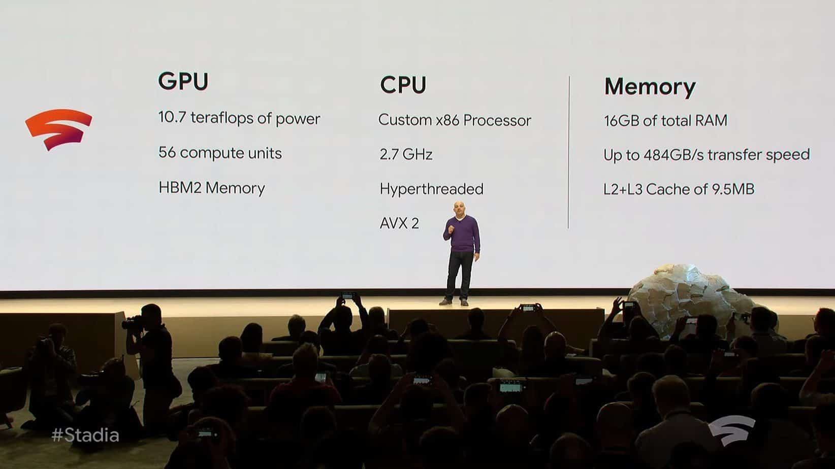 Technical specifications of a single Stadia instance.