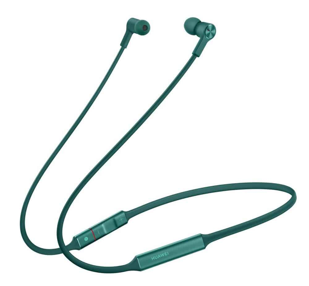 Huawei FreeLace earbuds in Emerald Green