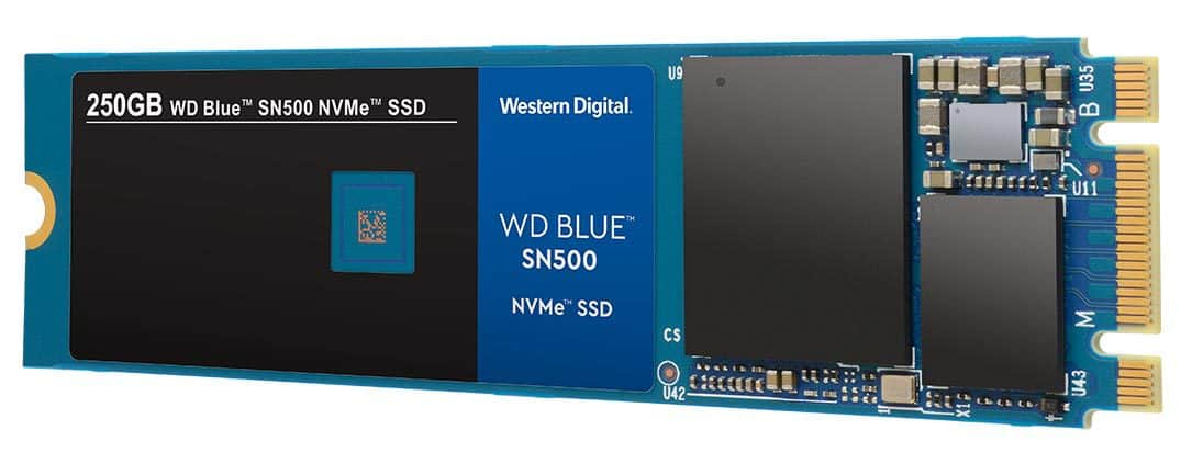 The new WD Blue SN500 NVMe SSD.