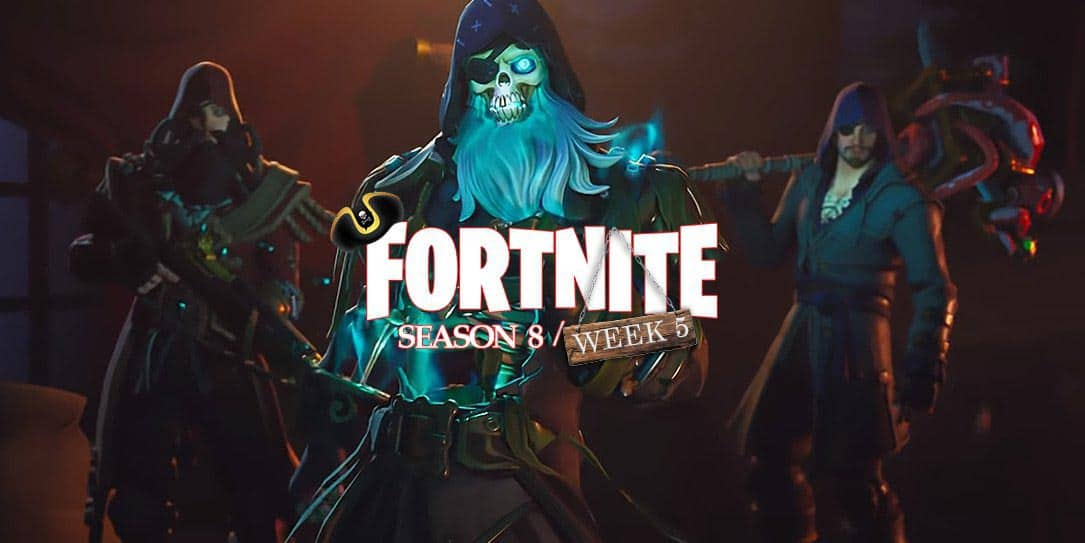 Fortnite Season 8 Week 5 challenges: Search chests, gain shield, and