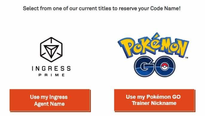 Simply click the button for which code name you wish to reserve.
